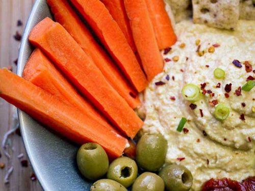 vegan hummus recipe side